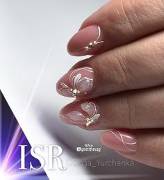 What manicure for what kind of nails? - My Nails Manicure, Gelish Nails, Toe Nails, Pink Nails, Bride Nails, Wedding Nails, Bridal Nail Art, Sparkle Nails, Flower Nails