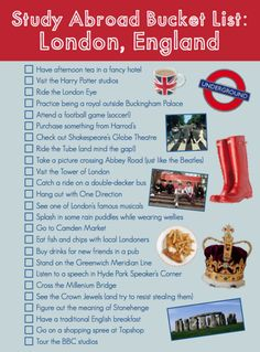More like a great list of things to do in London! I did many of these during my visit last summer and some I have no desire to do (One Direction is not on my list)