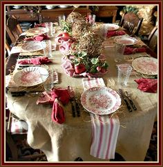 English Country Christmas Decorating | Country Style Rustic Christmas Tablescape