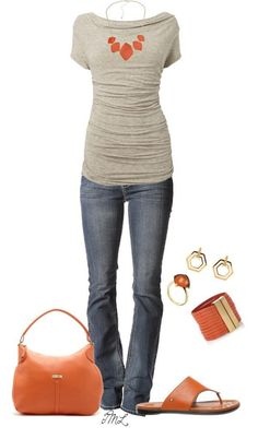 orange & love shape and cut of this top.