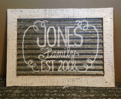 Custom Reclaimed Barnwood and Tin Sign. Hand lettered by #duckcreekrustics