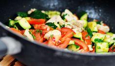 Kip wokken met verse groente en verse kruiden. Kip wokken is super gezond, simpel, en snel klaar. Dit gerecht bevat veel goede voedingsstoffen. Vitamines,