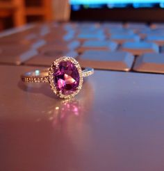 Amethyst ring by anneohirsch, via Flickr  Would make a beautiful engagement ring!  beautiful !