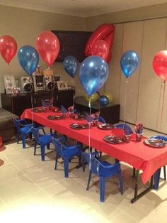 Spiderman Party: simple- good place to start with decor