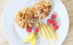 Gefüllte Dinkelpfannkuchen mit fruchtiger Joghurtüberraschung