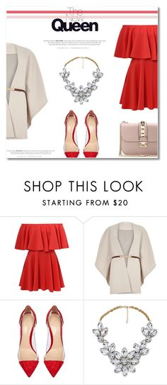 """Hot Red Dress"" by antemore-765 ❤ liked on Polyvore featuring River Island, Gianvito Rossi, Impulse, Valentino, women's clothing, women, female, woman, misses and juniors"