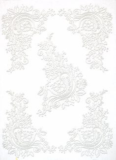 Rice Paper for Decoupage Decopatch Scrapbook Craft Sheet  Lace Floral Corners