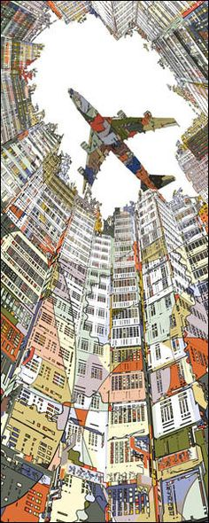 Kowloon Walled City by HR-FM  Print available at EyesOnWalls  http://www.eyesonwalls.com/collections/hr-fm/products/kowloonwalledcity