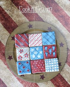 CookieCrazie: Patriotic Quilt Cookies (Tutorial)