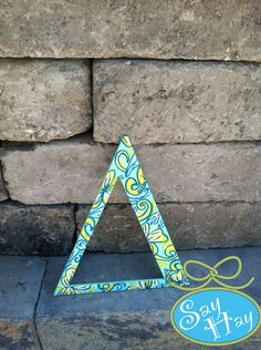 #Tri #Delta #greek letter painted in @Lilly Pulitzer #TriDelt #sorority #print