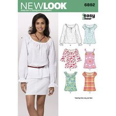 New Look Pattern 6892 Misses Tops