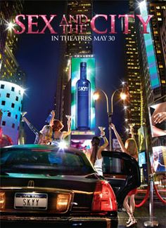 Sex And The City ad with SKYY Vodka