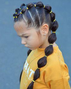 Ideas Braids For Kids Hair Beauty Cute Little Girl Hairstyles, Baby Girl Hairstyles, Box Braids Hairstyles, Stylish Hairstyles, Simple Hairstyles, Black Hairstyles, Cute Hairstyles For Toddlers, Girls Braided Hairstyles, Hairstyle Ideas
