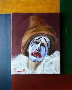 Clown,  Acrylics on canvas