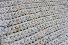 Double strand crochet baby blanket pattern
