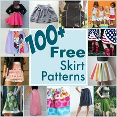 100+ free skirt patterns/ decenas de patrones gratuitos de faldas!