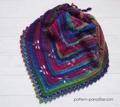 Free Crochet Pattern: Dragonfly Bandana Cowl by pattern-paradise.com