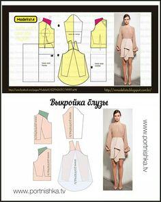 Longsleeved dress pattern, DIY, sew