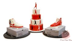 Rasheed Wallace's Birthday Sneaker Cake by Pink Cake Box 40th Birthday Cakes For Men, Cake Birthday, Birthday Ideas, Nike Cake, Jordan Cake, Pink Cake Box, Sport Cakes, Wilton Cake Decorating, Occasion Cakes