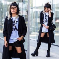 Alessandra Mazzini - Levi's® Shirt, Camote Soup Coat, Coco Jolie Shorts - Long jacket