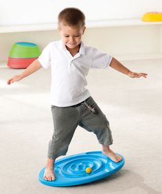 This looks like a great way to get kids to work on balance & strengthen their core!