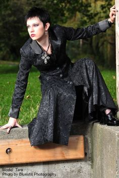 Jacquard Satin Coat Sizes S-Plus 28  Click to buy Gothic Clothing.  www.LeNoirBazaar.com