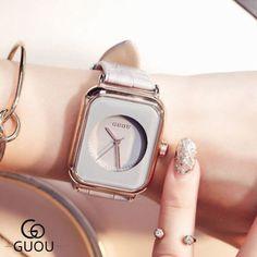 2016 guou brand quartz watches women ladies simple trendy square leather dress fashion wrist watch relogio feminino montre - online shopping for watches