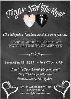 21 Beautiful At Home Wedding Reception Invitations | Pinterest ...