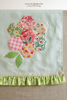 hexie flower towel by nanaCompany, via Flickr