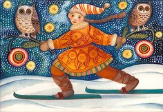 'Midnight Ski' by Julie Paschkis