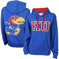 Kansas Jayhawks Ladies Olivia Pullover Hoodie – Royal Blue