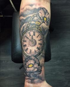 Pocket Watch Tattoo by Stefan
