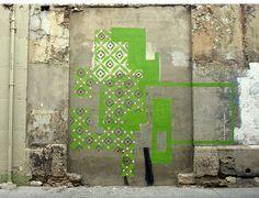 Beyond Banksy Project / Nuria Mora Art Intervention, Art Public, Street Gallery, Murals Street Art, Mural Painting, Wall Paintings, Installation Art, Art Installations, Land Art