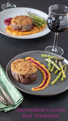 This Horseradish crusted beef filet will impress your guests! It's also perfect for a quiet date night at home! Only takes about 30 minutes total! It's mouth watering juicy and so very tender! Make sure you use the highest quality beef! See the recipe for my recommendations! #beeffiletrecipe #beefrecipes #recipesforentertaining #binkysculinarycarnival Potatoes Dauphinoise, Bacon Crisps, Fresh Bread Crumbs, Beef Filet, Holiday Recipes, Holiday Foods, Bacon Bits, Group Meals, World Recipes