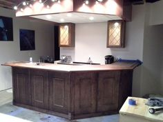 after staining wetbar