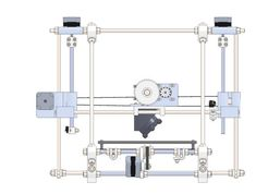 The C.E.M Crown Extruder on a Mendel Prusa 3D printer