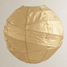 Gold Round Maru Paper Lantern