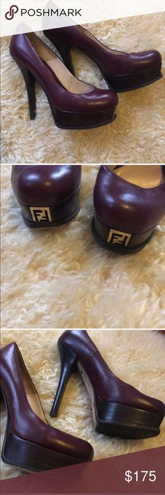 Fendi Platform Pumps These are so comfortable to walk in and turn heads everywhere. I wish I still had events to go to but alas, my life is boring now. Please take these and love them! Heel:5 platform: 1 Yves Saint Laurent Shoes Platforms