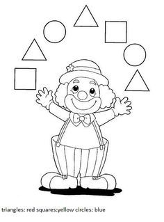 Crafts,Actvities and Worksheets for Preschool,Toddler and Kindergarten.Lots of worksheets and coloring pages. Clown Crafts, Circus Crafts, Carnival Crafts, Shape Worksheets For Preschool, Shapes Worksheets, Circus Activities, Kids Learning Activities, Theme Carnaval, Fall Arts And Crafts