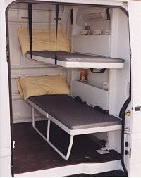 Image result for bunk beds with camper vans