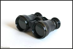 1930s vintage brass and leather opera binoculars in by Themison