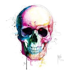 Angel's Skull #art #color #skull