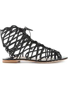 Sophia Webster 'Delphine Gladiator' Sandals Black leather 'Delphine Gladiator' sandals from Sophia Webster. Trovato su Styletorch