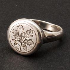 Oak Seal ring, by Jànos Gàbor Varga