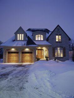 L. - House snow
