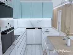 Modrá ako vítané osvieženie - Kristína Bedečová Living Room Kitchen, Kitchen Design, Cabinet, Storage, Furniture, Home Decor, Clothes Stand, Purse Storage, Decoration Home