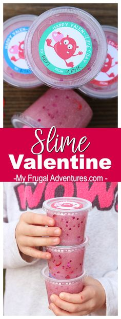 Slime Valentine- attach to a little container or baggie of slime for a guaranteed hit this Valentine's Day.
