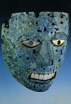 Mosaic Mask Inlaid with Turqoise, Aztec, c.1350-1521