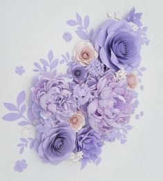 Crepe Paper Flowers Backdrop for Wall Above Crib, Large Paper Flowers Set with Peony, Giant Nursery Flowers, Lavender Purple Flowers Large Paper Flowers, Paper Flower Wall, Crepe Paper Flowers, Paper Flower Backdrop, Paper Peonies, Paper Roses, Peach Flowers, Tiny Flowers, Baby Shower Backdrop