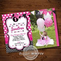 Pink Minnie Mouse Birthday by MyCelebrationShoppe on Etsy